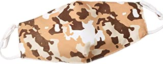 AvilaRasu Unisex Cycling 2-Ply Cotton Color Camouflage Dustproof Sunscreen Washable Adjustable for Mouth Face