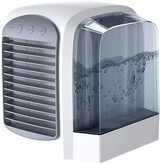 MissZZ Climatizadores Evaporativos, Mini Aire Acondicionado Portátil Purificador De Humidificador 3 En 1 con Luces LED LED para Dormir para Oficina Sala De Estar Cocina Baño Dormitorio