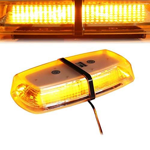 12–24 V 72 LED Éclairage stroboscopique Balise avec base magnétique Ambre