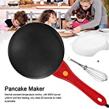 Portable Electric Crepe Maker Cordless, Crepe Pan 8 Inch Maker Griddle Crepe Pan with Non-Stick...