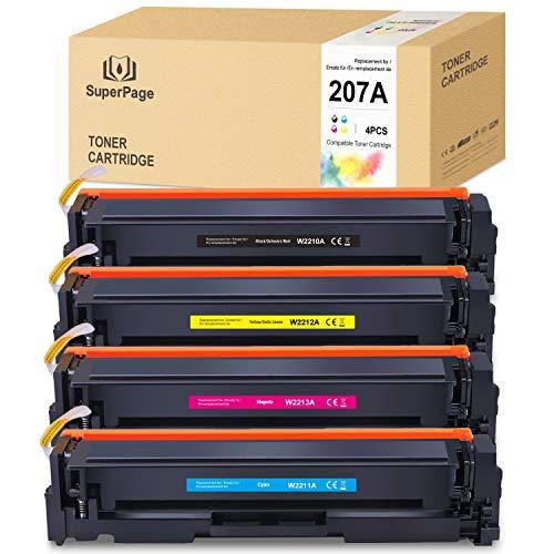 [Sin chip] 4 Superpage compatibles con HP Color Laserjet Pro M255dw MFP M282nw M283cdw M283fdw (negro, cian, magenta y amarillo)