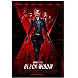 KONGQTE Scarlett Johansson Darsteller Film Black Widow (2021) Cover Poster Leinwanddruck Wandkunst Dekoration Bild Modern Room Decor-20x30 Zoll ohne Rahmen (50x75cm