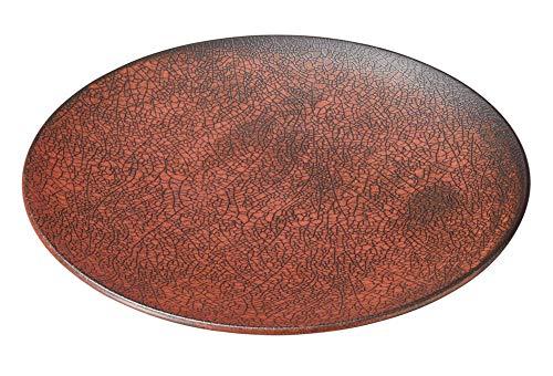 柿赤 23cm丸皿 [ 23 x 2.5cm ] [ 中皿 ] | 飲食店 和食 旅館 料亭 ホテル 業務用