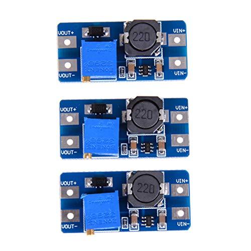 Andifany 3 Stücke Eingang 2V-24V Dc-Dc 5V / 9V / 12V / 28V Boost Konverter Einstellbare Boost Leistung Pcc Platte Modul