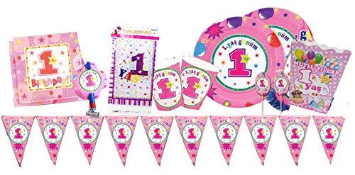 nation 84 Teile Dogum Günü Parti Kindergeburtstag Party Set für Kinder Partyzubehör 1 Yas