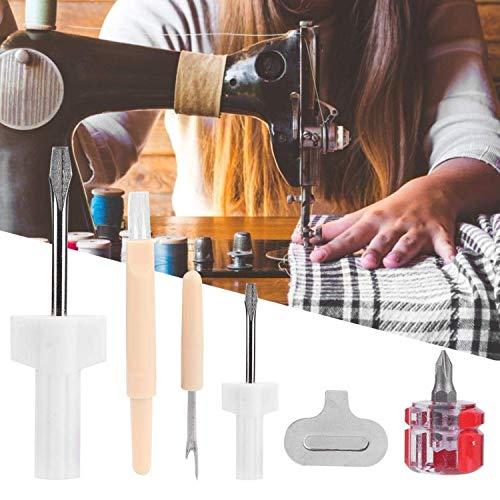 Zerodis 5pcs/Set Kit de Couture kit d'entretien de Machine à Coudre, Tournevis Enlèvement de Fil Outil Pratique Couture Ménage Accessoires de Réparation Universels kit d'outils pour Les Femmes