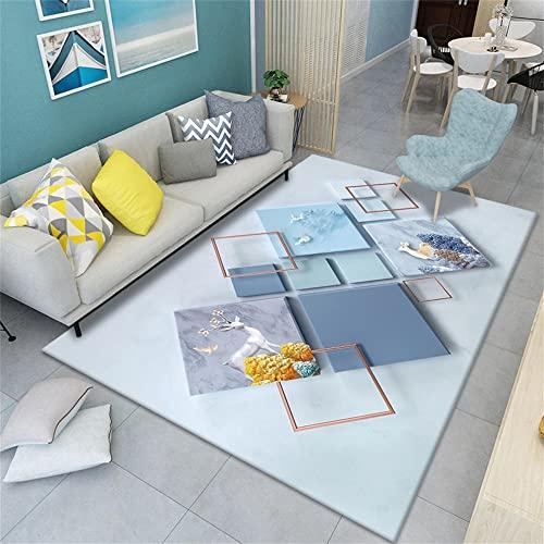 Higroscópico suave La Alfombra azul Alfombra de sala de estar alfombra de...
