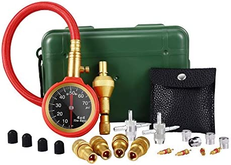 VZCY Tire Deflators Tools 0 75 PSI Tire Pressure Gauge Kit Accurate Fast Air Down Tool Air Pressure product image