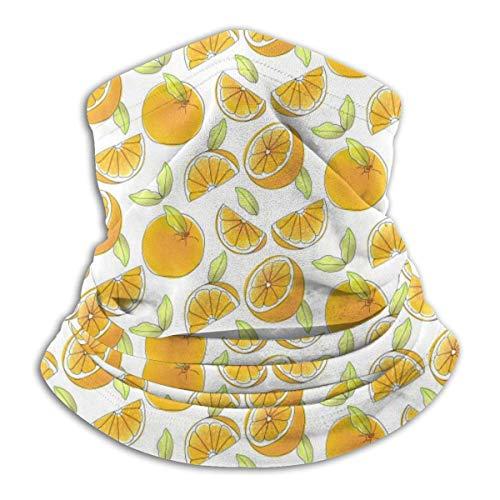 Linger In Gelbe Orangen Schnittmuster Halsmanschette Wärmer Winddichter Schal Sturmhaube Outdoor Sport