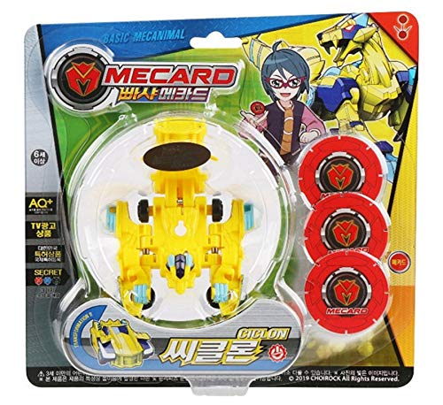 Pasha Mecard Ciclon Mecardimal Turning Car Vehicle Transformation Transforming Toy Action Figure