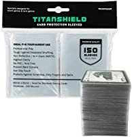 TitanShield (150 Sleeves / Clear) Standard Size Board Game and Matte Trading Card Sleeves Deck Protector for Magic The...
