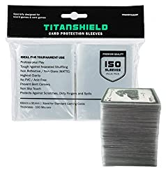 professional TitanShield (150 sleeves / standard size transparent board game and matte trading card deck …