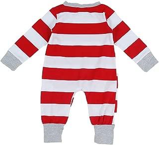 BOZEVON Christmas Family Matching Pyjama - Striped Pyjamas Homewear Sleepwear Outfits Christmas Dad Mom Kids Baby Pajamas Set Pjs Pajama Sleepsuit Nightwear Long Sleeve Tops and Pants