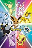 1art1 Pokemon Poster - Eevee Evolution (36 x 24 inches)