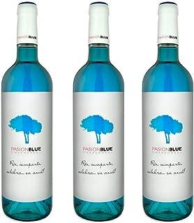 Pasion Blue Cóctel aromátizado vitivinícola - 3 botellas x 750ml - total: 2250 ml