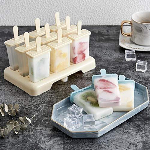 LCZMQRCLMZRQ Zomer zelfgemaakte ijslolly ijsvorm ijslolly schimmel bakje keuken DIY accessoires, Beige