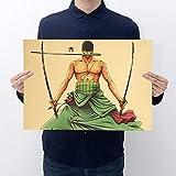 Haushele OFD One Piece Poster Japanischen Anime Kraftpapier