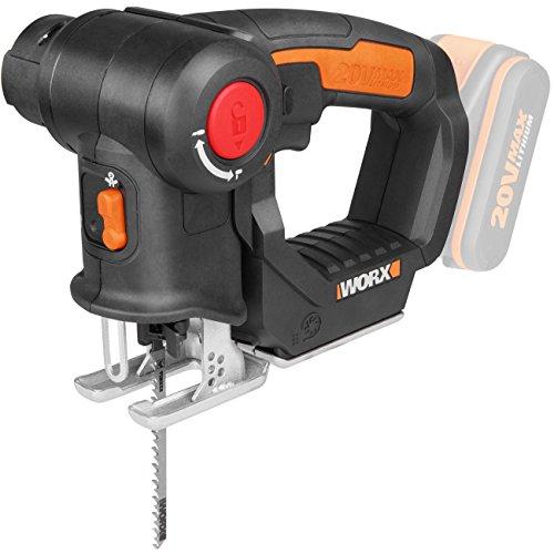 Workx WX550.9 Decoupeerzaag voor het snijden van hout, staal en pvc, 2-in-1 universele zaag met steek- en sabelzaag & snelle omschakeling – 20 V – met stofblazer & pendelhub – zonder accu en oplader
