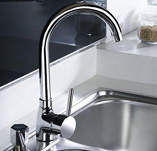 Küchenarmatur, Einhebelmischer für Spüle Kitchen Faucet aus Messing, Finish Chrom