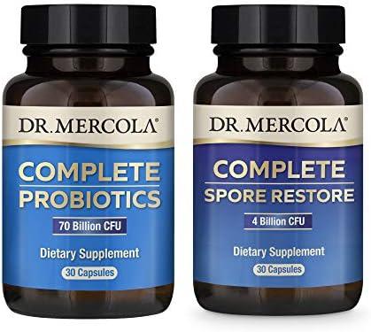 Dr Mercola Complete Gut Restore Pack 30 Servings Spore Restore 4 Billion CFU Complete Probiotics product image