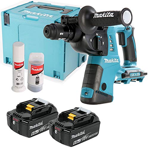 Makita DHR264ZJ 18V Twin SDS+ Hammer Drill with 2 x 6Ah Batteries & Case