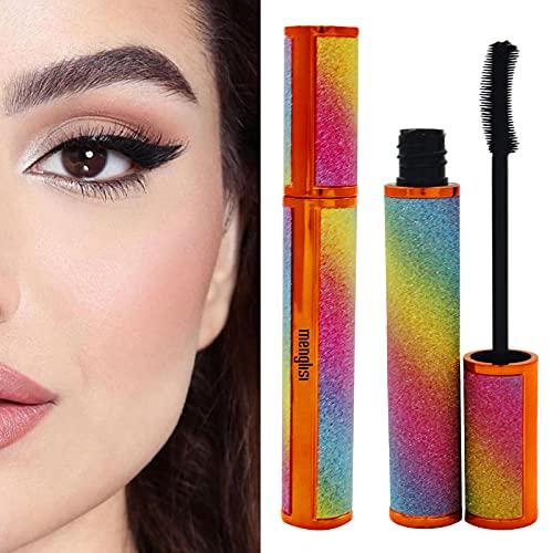 menglisi Mascara Black Volume And Length Waterproof Eye Makeup, Fiber Lashes Mascara For Sensitive Eyes, Lengthening Mascara(black)