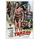 ASLKUYT Tarzan Vintage MoviePoster Dekorative