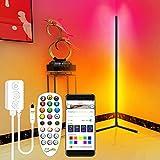 Angolo Lampada Da Terra Bluetooth APP Controllo LED Angolo Luce Ambiente RGB Cambiare Colore LED Luce Bastone per Soggiorno Camera Da Letto TV