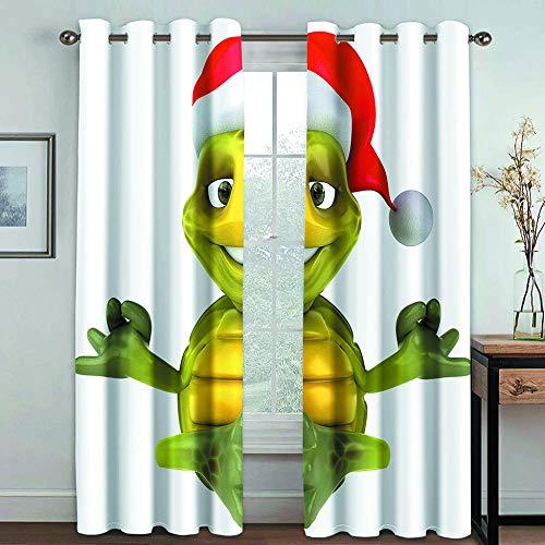 FFBYQ Schlafzimmer Vorhang Blickdicht Cartoon-Schildkröte Thermo Gardinen 3D Verdunkelungsvorhang Schlafzimmer Wohnzimmer Kinderzimmer150Wx166H cm