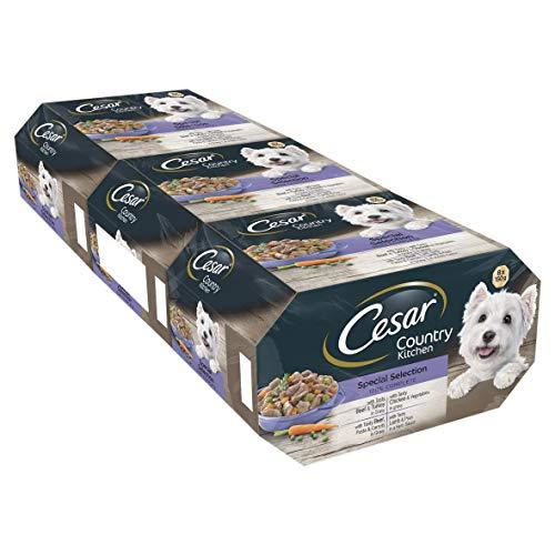 Cesar Country Kitchen - Comida para perros, selección especial, 8 x 150 g, paquete de 3