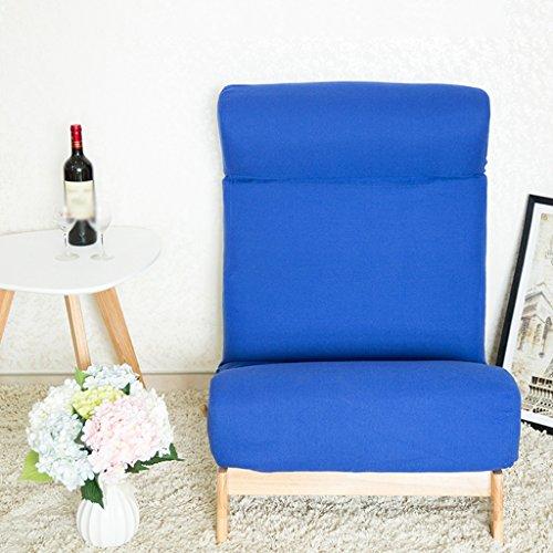 Lazy Sofa Fold Chair Chambre à coucher Living Room Fauteuil de loisirs -LI JING SHOP (Couleur : Bleu)