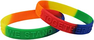 Equality/Rainbow Awareness Silicone Bracelet 25 Pack