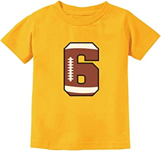 Gift for 6 Year Old 6th Birthday Football Youth Kids T-Shirt