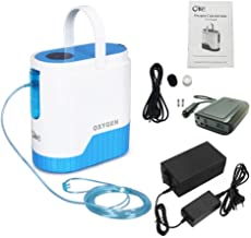 COXTOD Portable Oxygen Concentrator for Travel 1-5L/min Adjustable Portable Oxygen Machine for Home Use, AC 110V Air Humidifiers Battery and car Operated (Home, Car and Battery use)