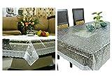 Kuber industrias Combo de comedor y mesa de centro en 3d transparente (plata) de encaje
