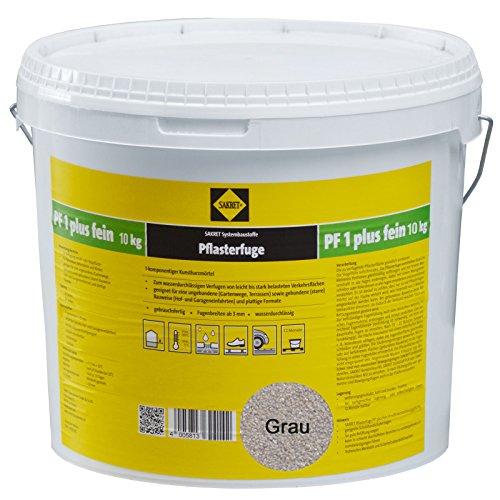 Sakret Pflasterfugenmörtel PF1 Plus FEIN 10kg Kunstharzmörtel 1K (Grau)