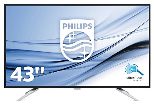 Philips Monitores BDM4350UC - Pantalla para PC de 43' UHD 4K (resolución 3440 x 2160 Pixels, tecnología WLED, Contraste 1000:1, 5 ms, FlickerFree, Altavoces, VESA, Displayport HDMI)