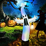 Image: Pop-Tech 6ft Scary Airblown Halloween Inflatable Ghost with LED Lights Decor for Kids Indoor Outdoor Yard Garden Party Decorations Includes Stakes and Sandbags