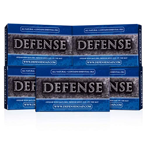 Defense Soap 4 Ounce Bar (Pack of 5) - 100 Percent Natural Pharmaceutical Grade Tea Tree Oil and Eucalyptus...