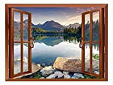 wall26 Removable Wall Sticker/Wall Mural - Wild Flowers in Spring (36'x48', Lake - 02)