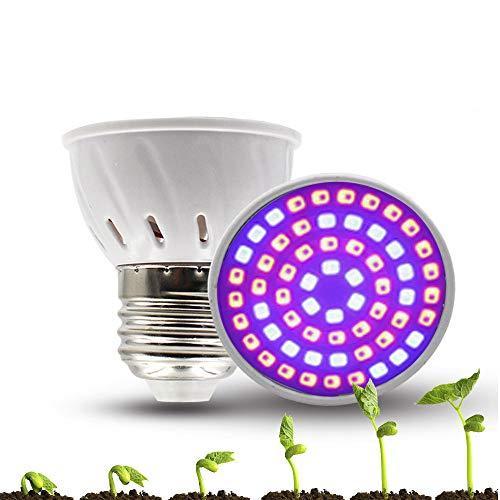 Bombilla de Planta LED de Espectro Completo, lámpara de Cultivo de luz LED Lámpara de Bombilla Crecimiento Vegetal Vegetales de Cultivo Lámpara de Planta de luz Natural para Flor Interior