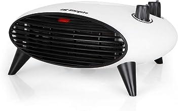 Orbegozo FH 5034 Calefactor eléctrico con termostato Regulable, 2000W de Potencia, 2 Posiciones de Calor y función Ventilador de Aire frío, Negro