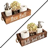 Nice Butt Bathroom Decor Box, 2 Sides - Funny Gift, Funny Toilet Paper Holder Perfect for Farmhouse Bathroom Decor, Toilet Paper Storage, Rustic Bathroom Decor, or Diaper Organizer (Brown)