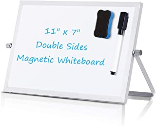 Small Dry Erase White Board - Desktop Portable Mini WhiteBoard Easel 7