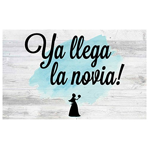 Cartel Ya LLega la Novia!   Decoración de boda (40x25cm)   Material...