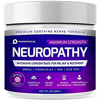 Neuropathy Nerve Therapy & Relief Cream - Maximum Strength Relief Cream for Foot Hands Legs Toes Includes Arnica Vitamin B6 Aloe Vera MSM - Scientifically Developed for Effective Relief 2oz