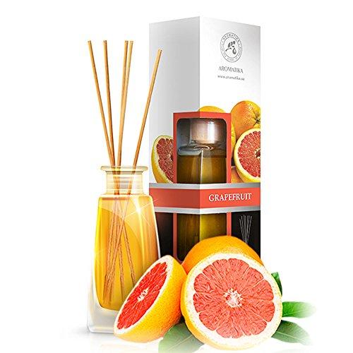 Aromatika Raumduft Reed Diffuser Grapefruit Öl 100ml mit 8 Stäbchen - ohne Alkohol - Intensiv & Langanhaltend Natürliche Raumdüfte - Aroma-Diffusor für Aromatherapie - Zuhause - Küche - Boutique - Spa