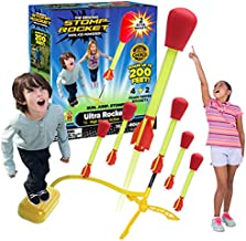 The Original Stomp Rocket Ultra Rocket Launcher with Ultra Refill Pack, 6 Rockets and Toy Air Rocket Launcher - Outdoor Rocket STEM Gift for Boys and Girls Ages 5 Years and Up - Great for Outdoor Play