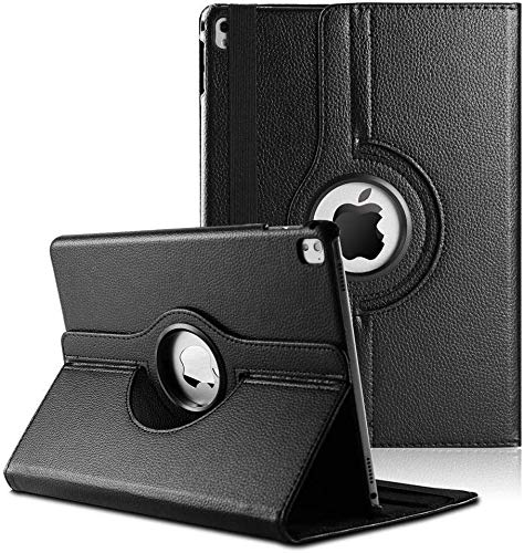 iPad 10.2-inch 2020 Case, 360 Degree Rotating Stand Protective Cover Smart Case with Auto Sleep/Wake for Apple iPad 8th Generation (Black)