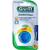 Gum Access Floss - Hilo dental para 50Aplicaciones, doble Pack (2unidades)